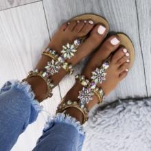 Eleganckie sandałki z kryształkami CAMILA
