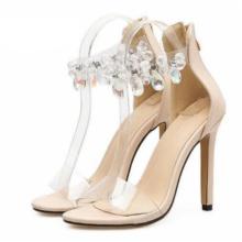 Sandały na szpilce CRYSTAL DIAMOND