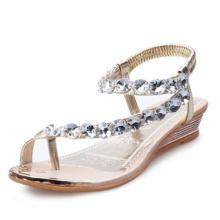 Stylowe Sandały Damskie z Kryształkami