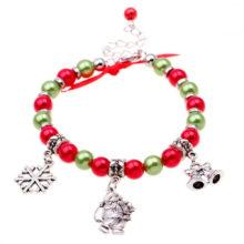 Świąteczna bransoletka z charmsami