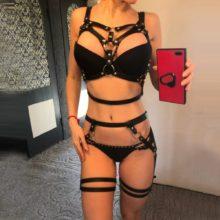 Skórzana Seksowna Uprząż Camila Bielizna Erotyczna